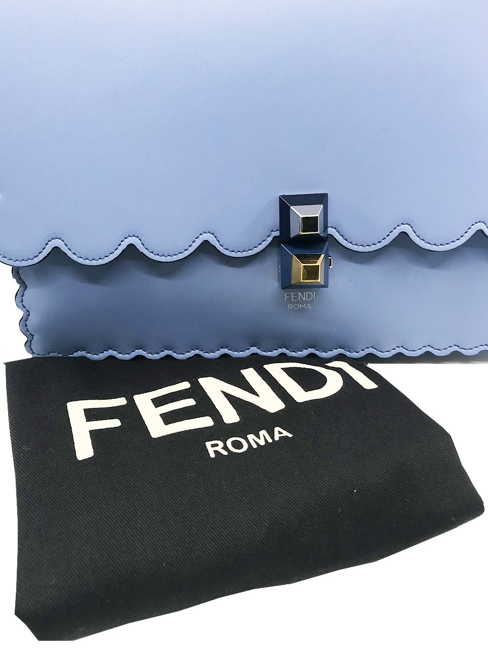 Fendi - Kan I Medium Leather Shoulder Bag - Image 6 of 6
