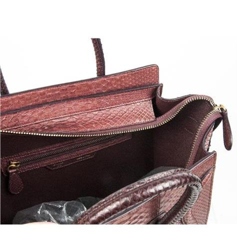 Celine - Mini Luggage Piton Bag - Image 7 of 8