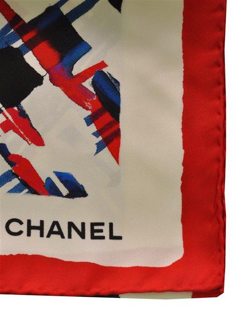 Chanel - Silk Twill Scarf - Image 3 of 5