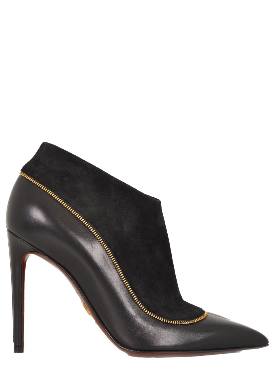 Louis Vuitton - Zip Trimmed Suede and Leather Bootie