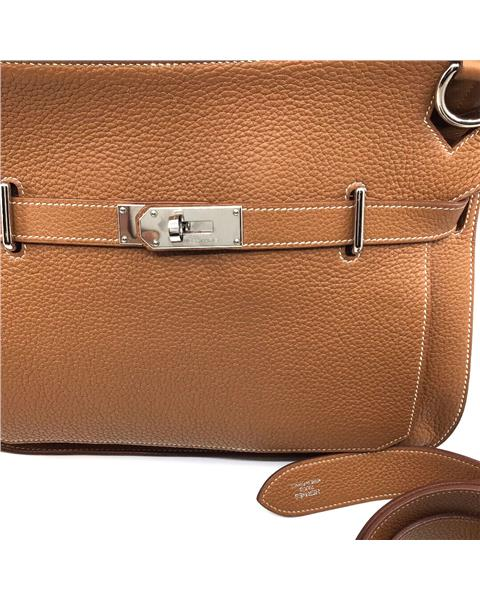 Hermes - Jypsiere 34 Taurillon Clemence Gold Colour Palladium Plated Hardware - Image 6 of 9