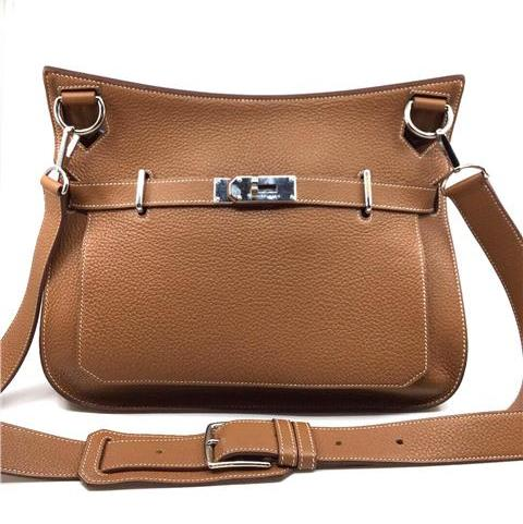 Hermes - Jypsiere 34 Taurillon Clemence Gold Colour Palladium Plated Hardware - Image 9 of 9