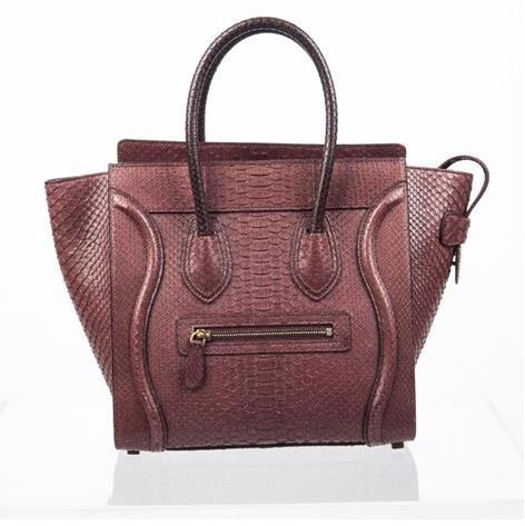 Celine - Mini Luggage Piton Bag