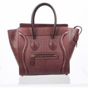 Celine - Mini Luggage Piton Bag