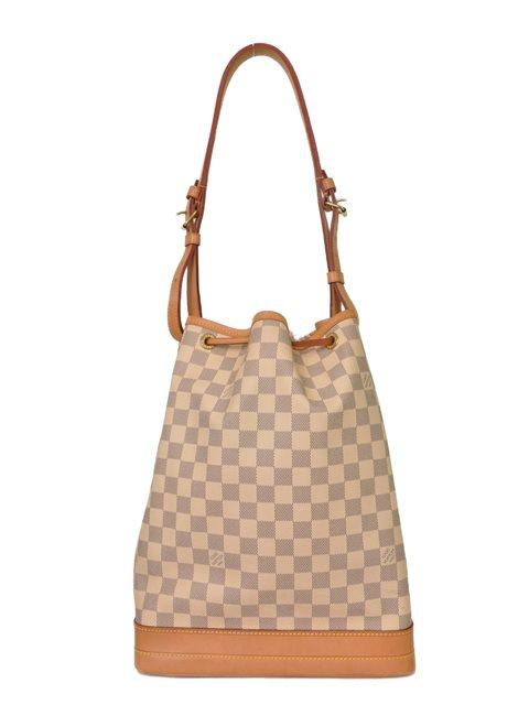 Louis Vuitton - Damier Azur Noe Bucket Leather Shoulder Bag - Image 8 of 8