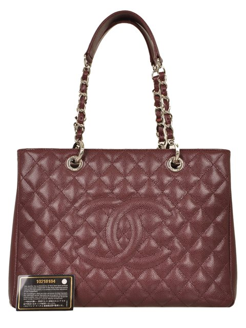 Chanel - Quilted Caviar Leather Grand Shopper Shoulder Bag