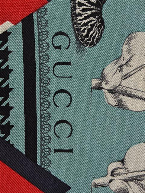 Gucci - Silk Twill Scarf - Image 4 of 4