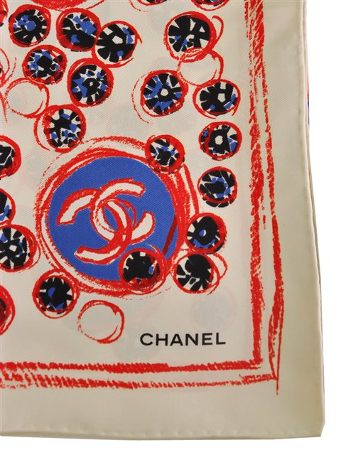 Chanel - Silk Twill Scarf - Image 3 of 4