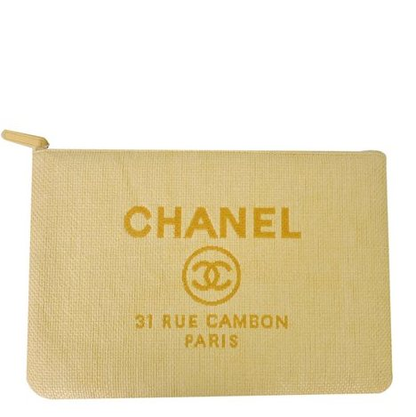 Chanel - Deauville Canvas Clutch