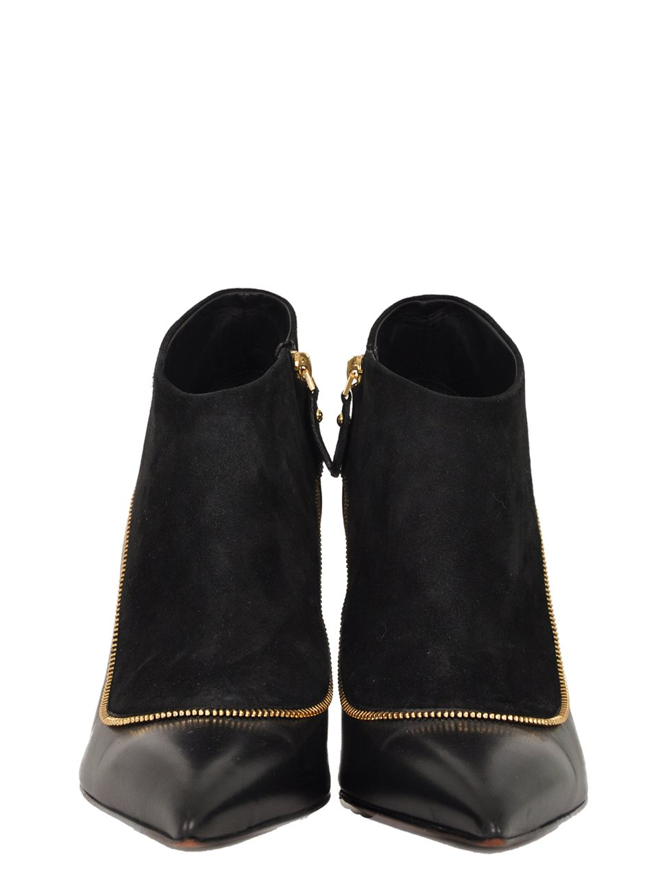 Louis Vuitton - Zip Trimmed Suede and Leather Bootie - Image 4 of 5