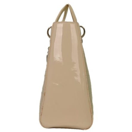 Christian Dior - Lady Dior Large Patent Leather Hand Bag - Image 5 of 7