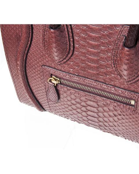 Celine - Mini Luggage Piton Bag - Image 8 of 8