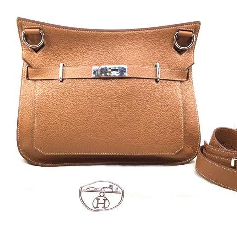 Hermes - Jypsiere 34 Taurillon Clemence Gold Colour Palladium Plated Hardware