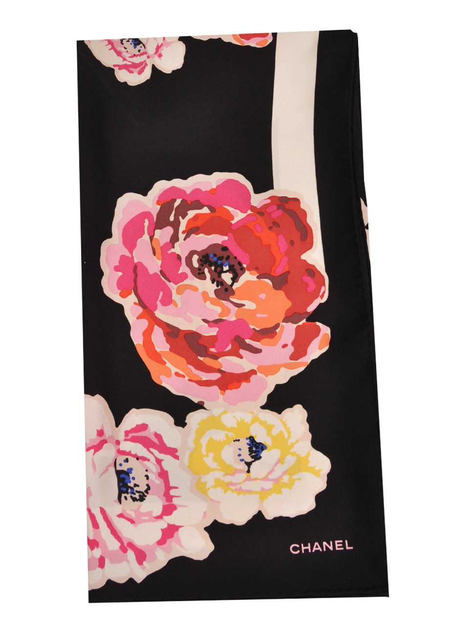 Chanel - Floral Print Silk Twill Scarf - Image 3 of 3