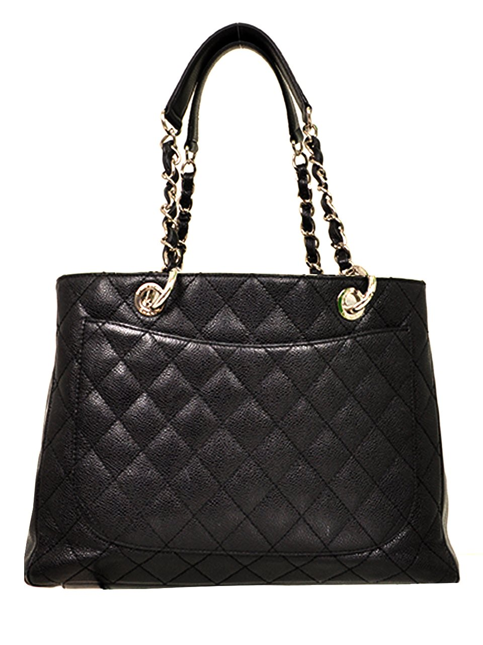 Chanel - Quilted Caviar Leather Grand Shopper Shoulder Bag - Image 2 of 4