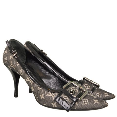 Louis Vuitton - Mini Lin Monogram Canvas & Leather Pointy Heels