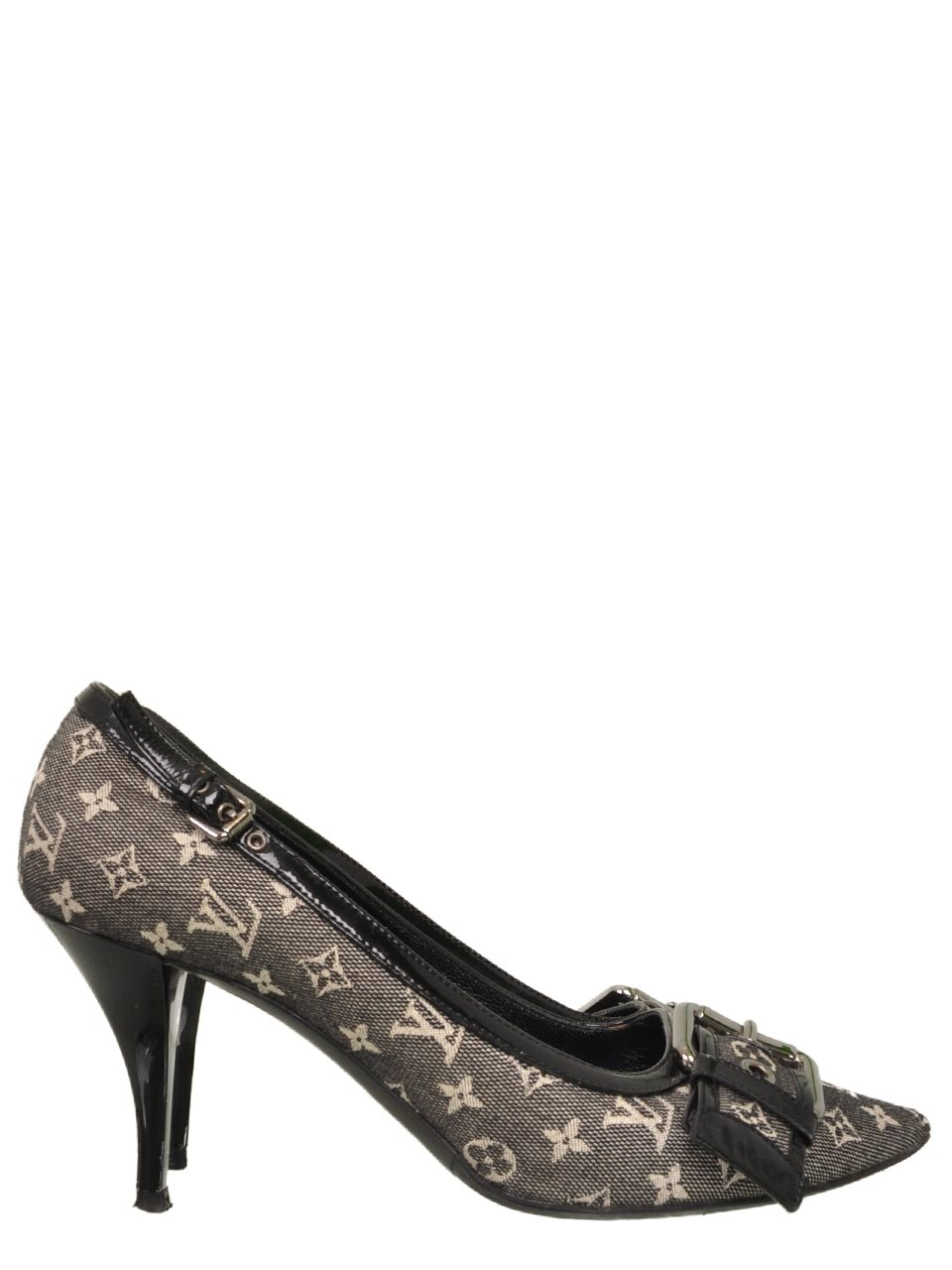 Louis Vuitton - Mini Lin Monogram Canvas & Leather Pointy Heels - Image 5 of 5