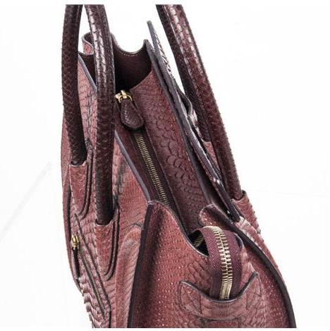 Celine - Mini Luggage Piton Bag - Image 3 of 8