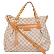 Louis Vuitton - Evora Gm Damier Azur Leather Shoulder Bag