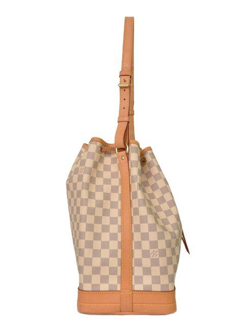 Louis Vuitton - Damier Azur Noe Bucket Leather Shoulder Bag - Image 7 of 8