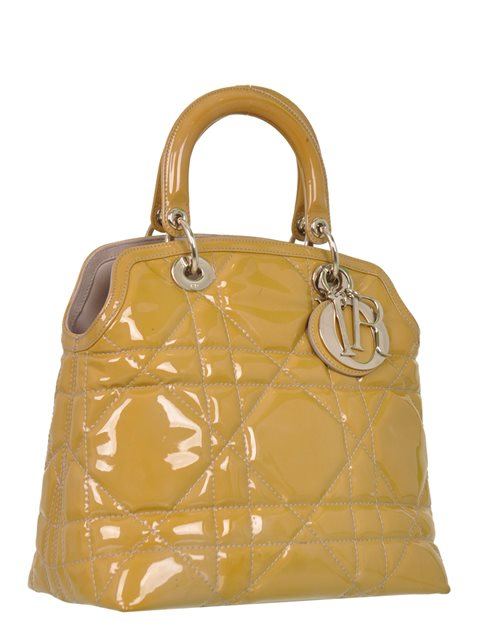 Christian Dior - Granville Small Patent Leather Hand Bag - Image 3 of 5