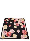 Chanel - Floral Print Silk Twill Scarf