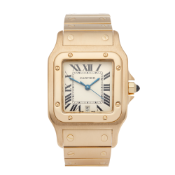 Cartier Santos Galbee 592 Men Yellow Gold Large Watch