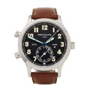 Patek Philippe Calatrava Pilot Travel Time 5524G-001 Men White Gold Watch