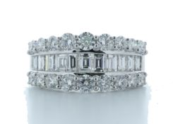 18ct White Gold Channel Set Semi Eternity Diamond Ring 2.54 Carats