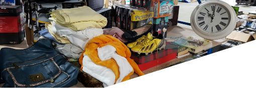 Contents Of Shelf Ð To Inc 2 X Ladies Bag, Cosplay Outfit, Bedding Items, Size 3 Black Shoes, Adidd