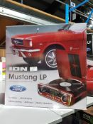 1 X Ion Mustang LP 4 In 1 Classic Car Styled Music Centre (Turntable, Am/Fm Radio, USB Recording,