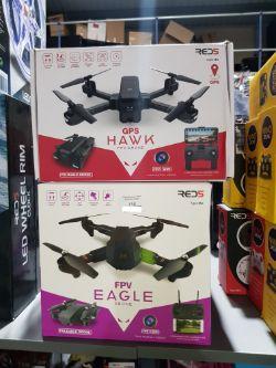 4 Items Ð 2 X Red5 GPS Hawk Fpv Drone & 2 X Fpv Eagle Drone