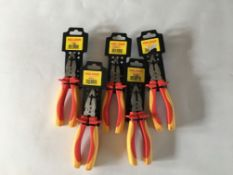 "5 X Holdon 7"" Vde Combination Pliers"
