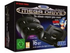 Sega Megadrive Mini 16 Bit Games Console. (RRP £79.99) Tested Ð Appears To Operate As It Sho...