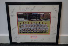 Essex County Cricket Club 2008 team signed