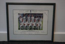 England test cricket team 1999 framed and signed photo