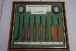 History of the Cricket Bat, mounted models