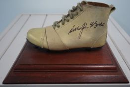Willie John McBride signed mounted rugby boot