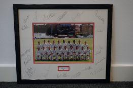 Essex CC 2008 team photo signed