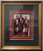 Muhammad Ali, Joe Frazier, George Foreman, Ken Norton, Larry Holmes signed framed group photograph