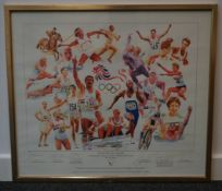 British Olympic Legends signed framed limited edition picture