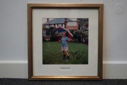 Warren Mitchell signed colour photograph