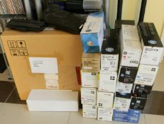 21 Genuine HP, Samsung Xerox Toner Cartridges.