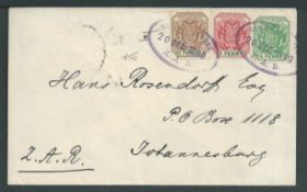 Boer War 1899 (Dec 20) Cover to Johannesburg franked Transvaal 1/2d, 1d and 2d cancelled by two str