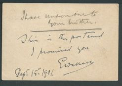 Boer War / Autographs 1902 Transvaal 1d postcard from Johannesburg to Cape Colony written and signed