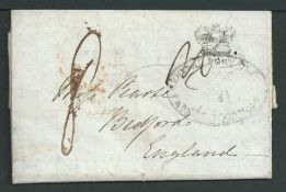 Cape of Good Hope 1846 Entire Letter from Mrs. Maclear at the Royal Observatory to her sister in Eng