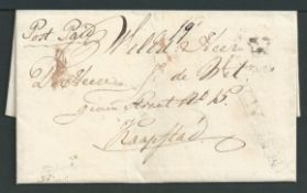 Cape of Good Hope 1834 Entire Letter from George to Cape Town with under-inked impressions of the Ge
