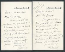 Autograph Letters 1904 Two Autograph Letters written by Field Marshal Lord Roberts, to Sir George Fa
