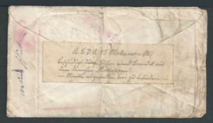 Crash & Wreck 1915 USA 2c postal stationery cover from New York to Germany, water damaged with a sta