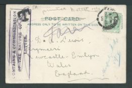 Cape of Good Hope 1905 Picture postcard from East London to England, with the sendets address on the